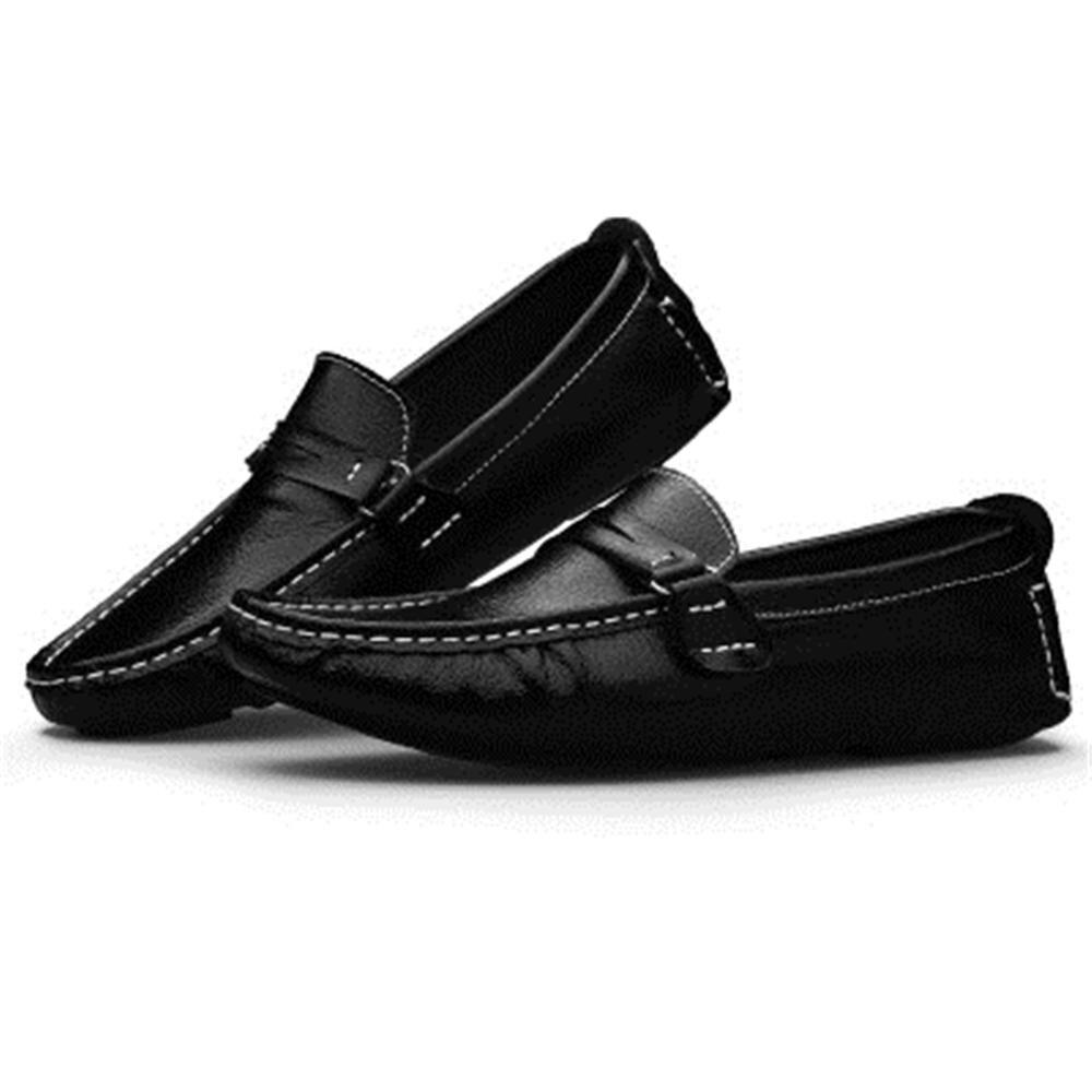 black Pour On Slip Respirant Mocassins Chaussure Britannique Hommes White Pois En brown Promenade Cuir Bateau Lecteur Style blue Appartements Chaussures Véritable fdnUzvqBUw
