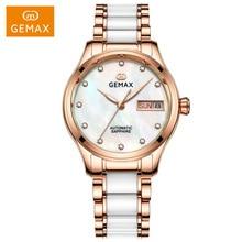 GEMAX Women Watches Waterproof Automatic Mechanical Watch Ladies Fashion Top Brand Diamond Calendar Ceramic Sapphire MIYOTA 2017