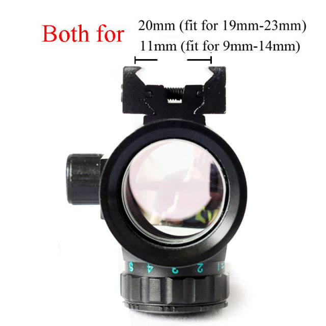 Tactical 1X40 Red Green Dot Sight Riflescope Rifle Airsoft Gun Red Green Dot Sight 11mm 20mm Rail Mount Rifle Airsoft Gun 6