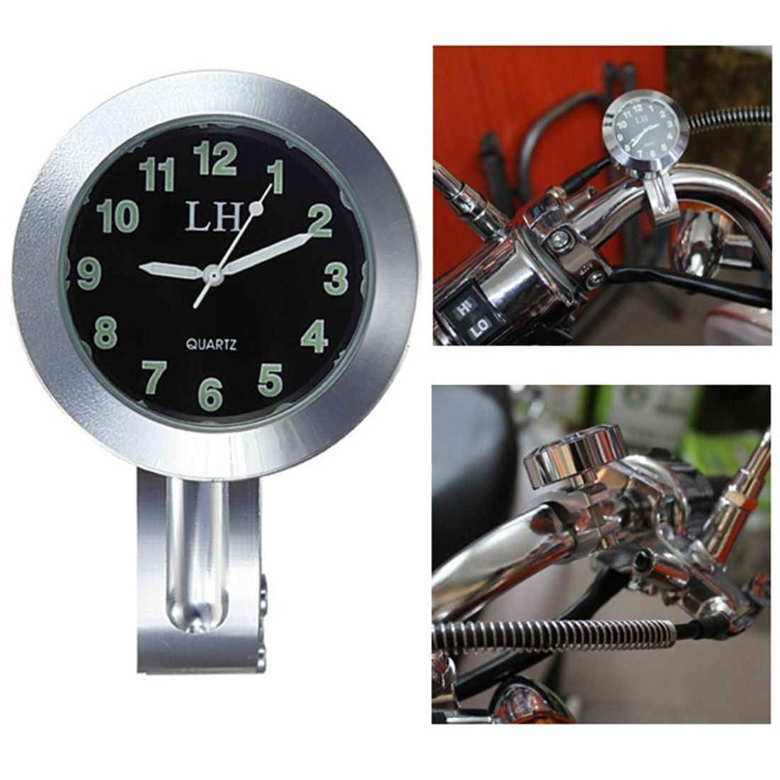 Fit For 7/8-1 Universal Motorcycle Handlebar Mount Dial Clock Waterproof New