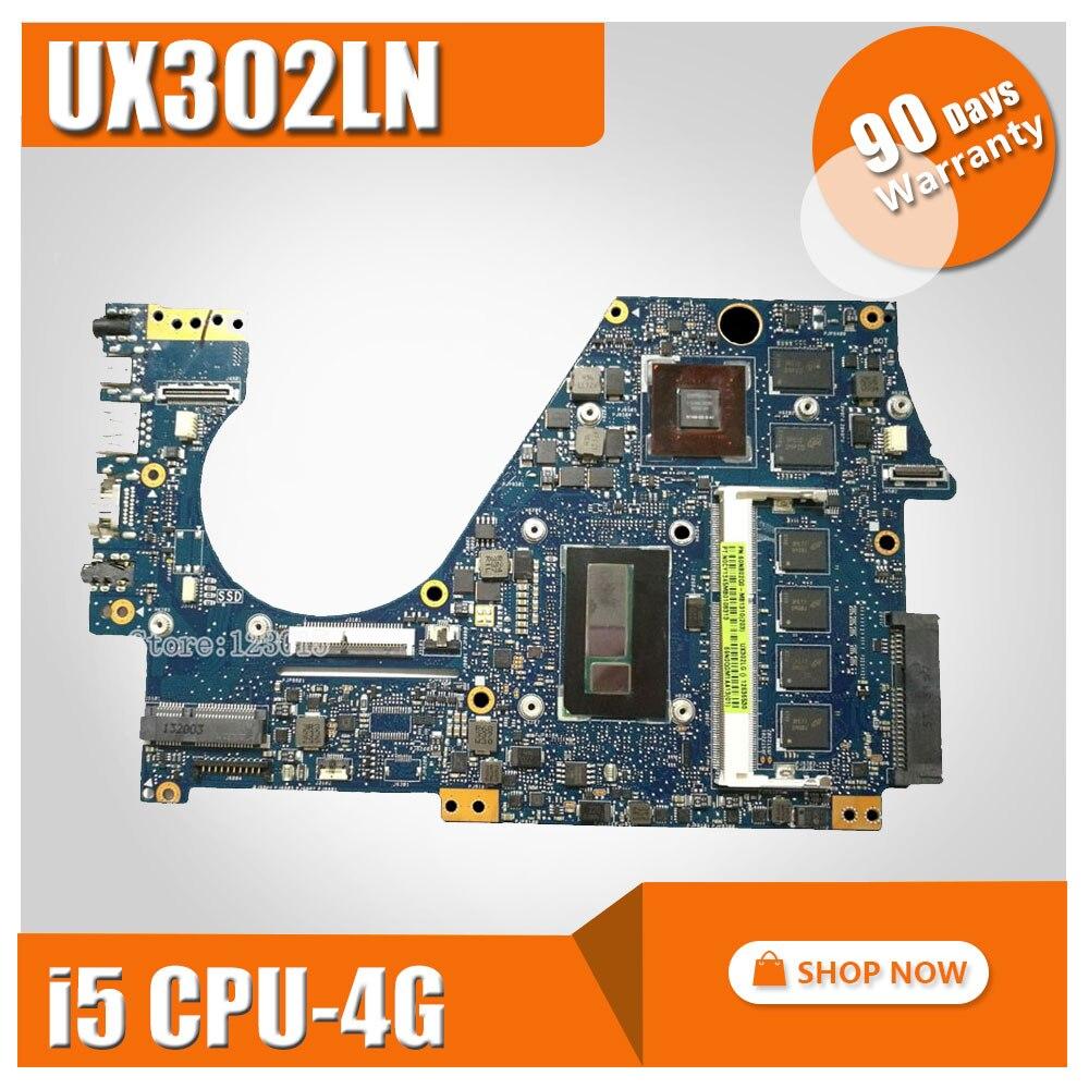 UX302LN for ASUS Motherboard UX302 UX302L UX302LA UX302LN Motherboard UX302LA REV2 0 Mainboard I5 4200U 4GB