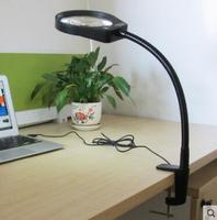 A clamp type amplification stage lamp with LED lamp magnifier Claus reading electronic maintenance test 10X times