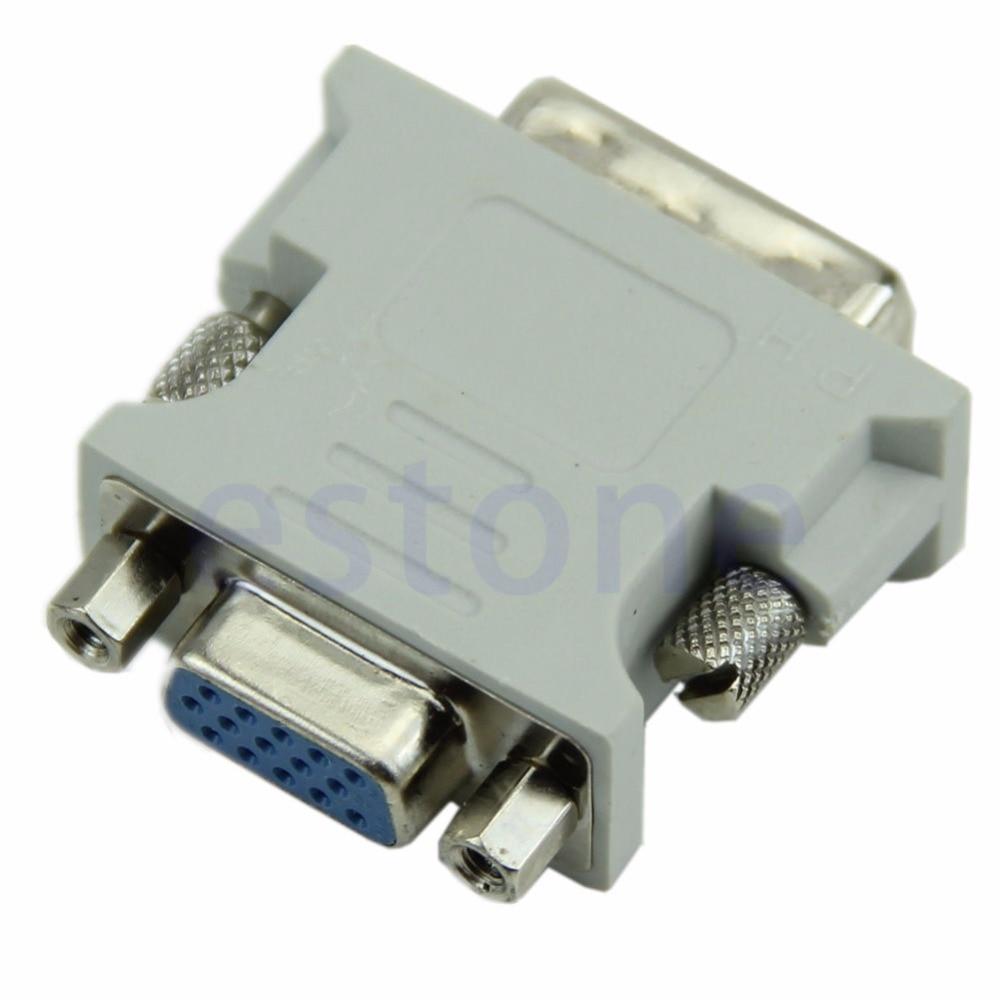 VGA 15 Pin PC Laptop Female 24+1 Pin To DVID Male Adapter Converter LCD Drop Shipping
