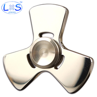 (LONSUN)2017 New Stainless steel EDC R188 Hand Spinner For Autism and ADHD Stress Spinner Anti Stress Toys