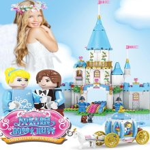 1786pcs Kazi Cinderella Romantic Princess Castle Full Set Building Blocks Toys Children Christmas Compatible With Famous Brand