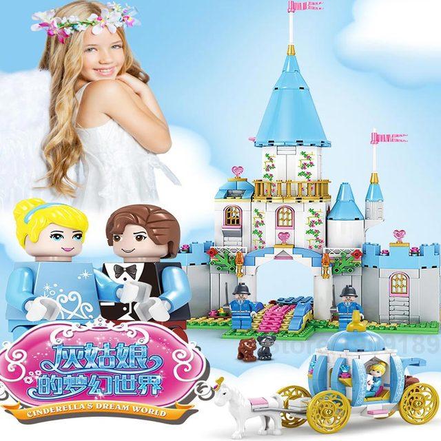 1786pcs Kazi Cinderella Romantic Princess Castle Full Set Building Blocks Toys Children Christmas Compatible With Famous Brand