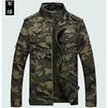 Прохладная весна и осень случайные мужские хлопчатобумажные камуфляж куртка, мужские пальто, мужская мода army green куртка человек