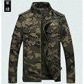 Chaqueta de camuflaje fresco de algodón de primavera y otoño de los hombres ocasionales, abrigos de los hombres, moda hombre verde del ejército chaqueta de hombre