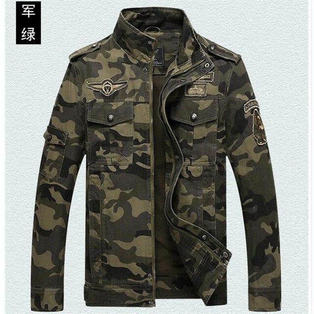 new product 3ff3f 13fa8 US $50.99 |Fresco primavera e in autunno casuale del cotone degli uomini  giacca mimetica, cappotti da uomo, moda uomo esercito giacca verde uomo in  ...
