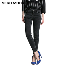 Vero Moda New Hot Women Sexy Slim Elastic Fashion Vintage Bleached Skinny Jeans Girl Casual denim Trousers 315149014(China)