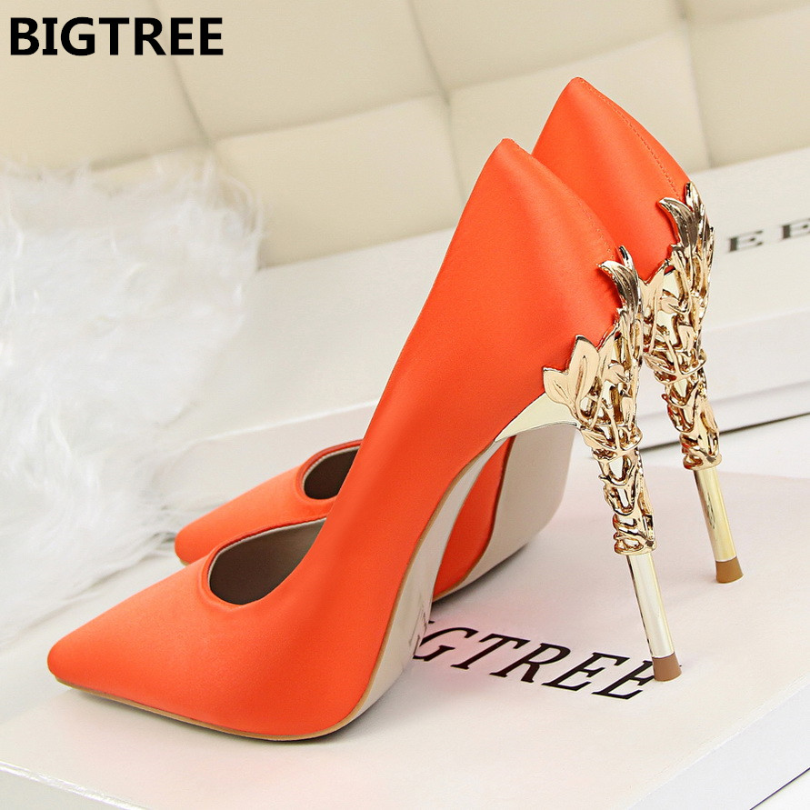 2018 Women pumps Sexy Pointed toe Luxury Metal high heels shoes woman Spring Summer Women party wedding shoes High heels Zapatos moonmeek spring summer new arrive high heels pointed toe with buckle sexy flock thin heel women pumps wedding party shoes