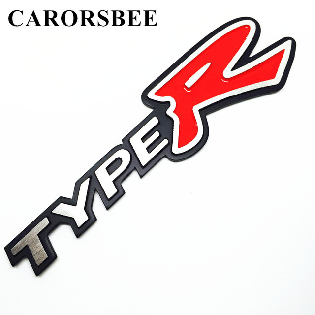 Carorsbee 3d aluminum alloy typer type r emblem badge decal sticker car styling automobile accessories