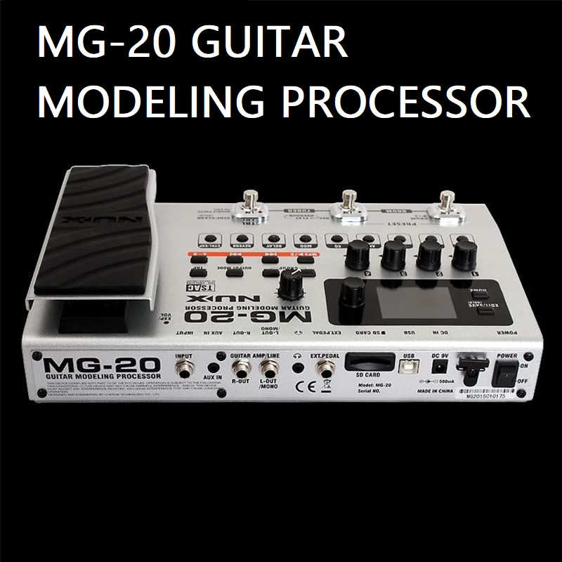 MG20 guitar modeling processor more than 60 models drum machine looper built in tuner expression pedal