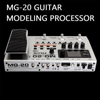 MG20 기타 모델링 프로세서 60 개 이상의 모델 드럼 머신 루퍼 내장 튜너 식 페달 일렉트릭 기타 효과