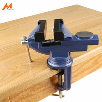 2.5 Small Swivel Base Clamp on Bench Vise for Woodworking Repair Work