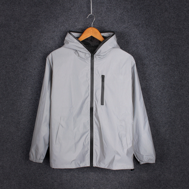 2019 New Men's and Women's Jacket 3 M reflective Jacket night glowing Men and Women Lovers Jacket windbreaker with Hooded jacket