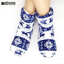 Mntrerm 2017 New Indoor Home Slippers Flannel Slippers Plush Home Slippers Couples Wooden Floor Slippers For Women Shoes woman