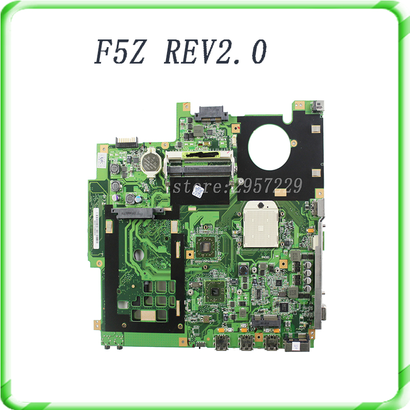 For ASUS X50Z F5Z original laptopmothboard REV2 0 DDR2 Free shipping tested well