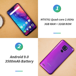 Image 3 - Ulefone Smartphone Note 7P, Android 9,0, Quad Core, 3500mAh, pantalla gota de agua de 6,1 pulgadas, 3GB + 32GB, desbloqueo facial
