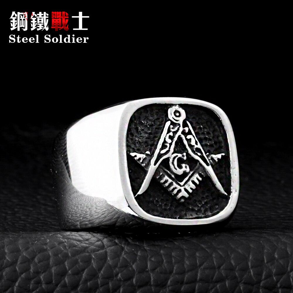 Hombres Anillo De Acero Inoxidable Negro soldado de calidad superior de piedra Joyería del Dedo de titanio