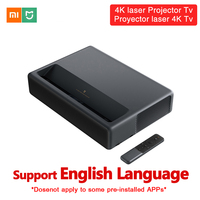 Original Xiaomi Mijia 4K Laser Projection TV Home Theater 150 Inch Wifi Bluetooth English Interface 3D Projector HDR Support DTS