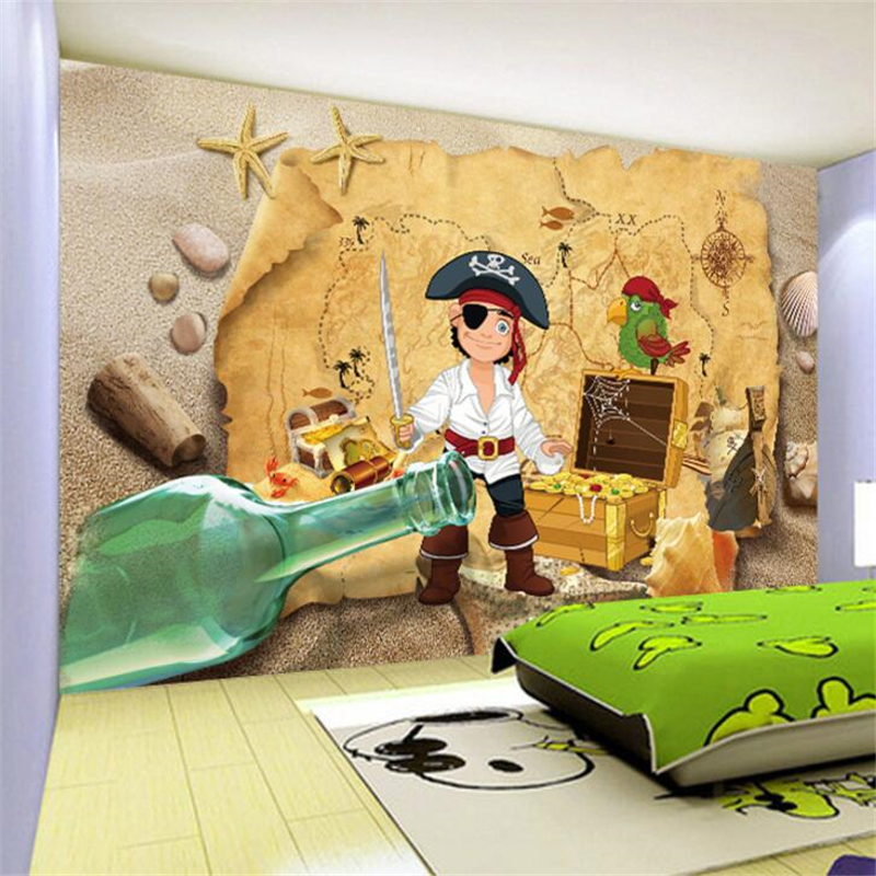 Beibehang Custom Wallpapers 3d Photo Murals Hedge Pirate Kids Room Background Decorative Paintings 3d Wallpaper Papel De Parede
