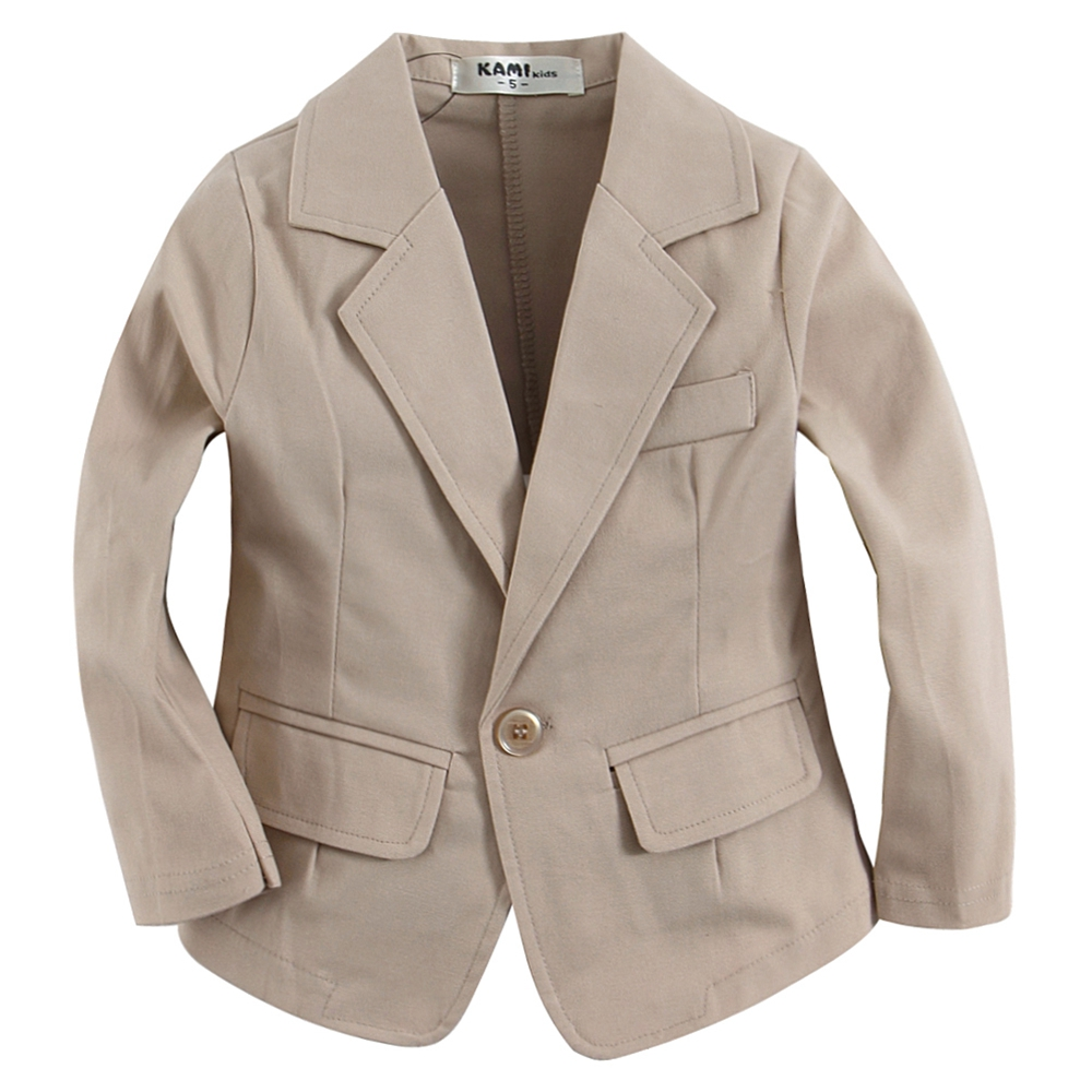 b2271c06f1bd new arrival woven cotton 100% toddler BOY blazer BB151202G C solid Light  Khaki