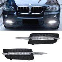 2Pcs Lot Xenon White 18W High Power LED Daytime Running Light DRL Lamps Error Free For