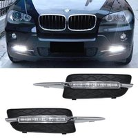 2Pcs Lot Xenon White 18W High Power LED Daytime Running Light DRL Lamps Error Free For