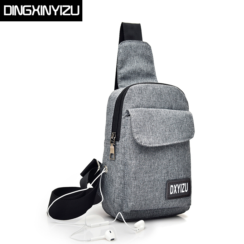 DINGXINYIZU Brand New Canvas Men Chest Pack Women Messenger Bag Multifunctional Casual Travel Male Small Shoulder Crossbody Bags hot sale multifunction men s chest bag canvas shoulder bag men casual men s messenger chest bag crossbody sling bags male h019