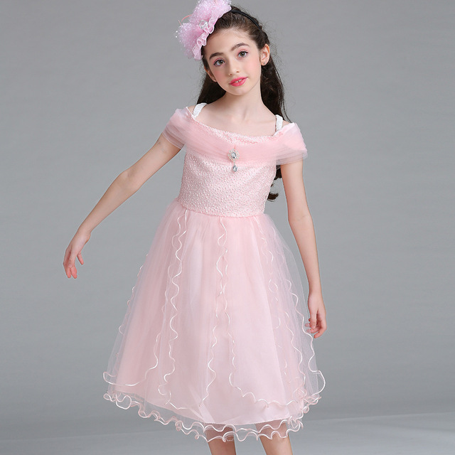 67e1f01047a Strappy Tulle Flower Girl Evening Gowns Kids Off Shoulder Dress White Blue  Purple Light Pink Prom Dress Promgirl Celebrity