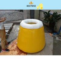 Диаметр 1,2 м, высота 1,5 м воды мешок, желтый круглый бассейн для хранения воды, ПВХ надувной бассейн