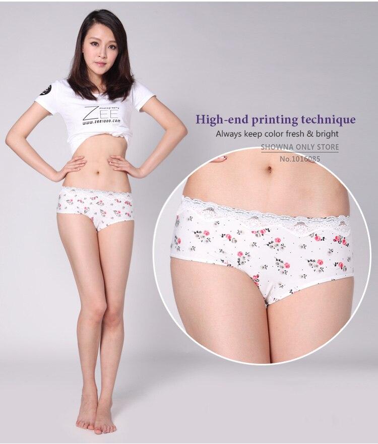 Girls Intimates Teenage Floral Breathable Menstrual Period Underwear Teen Kawaii Panties Microfiber Nylon Briefs Lace Knickers In Briefs From Underwear