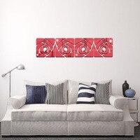 DIY Rose Red Espelho Decorativo adesivos de parede Sofa TV Parede Do Quarto Decor Melhor Adesivo Casa Decalque