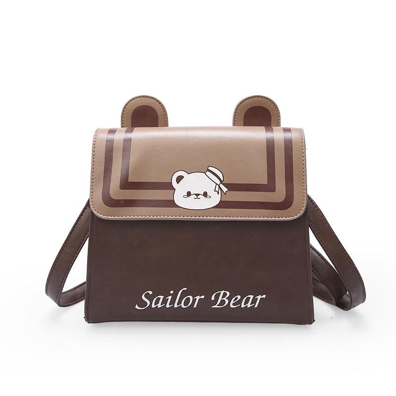 Japanese Girls Cute Cartoon Sailor Bear Messenger Bag Harajuku JK Uniform School Handbag Bear Ears Shoulder Bag Lolita Handbag стоимость