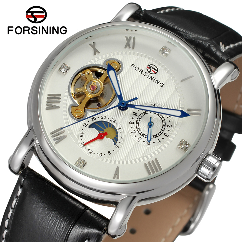FSG800M3S3 Men new Automatic self wind watch classic dress original wrist watch with moon phase gift box free shipping best цена