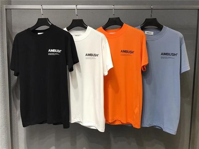05e1c1f8 2019 NEW AMBUSH T-Shirt Men Women Orange Black white Blue 3M Reflective 1: