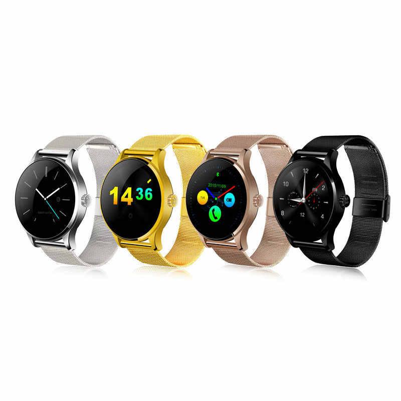 Kuddly K88H smart elektronik smat uhr mode smart watch android lederband smartwatch frauen relogio celular