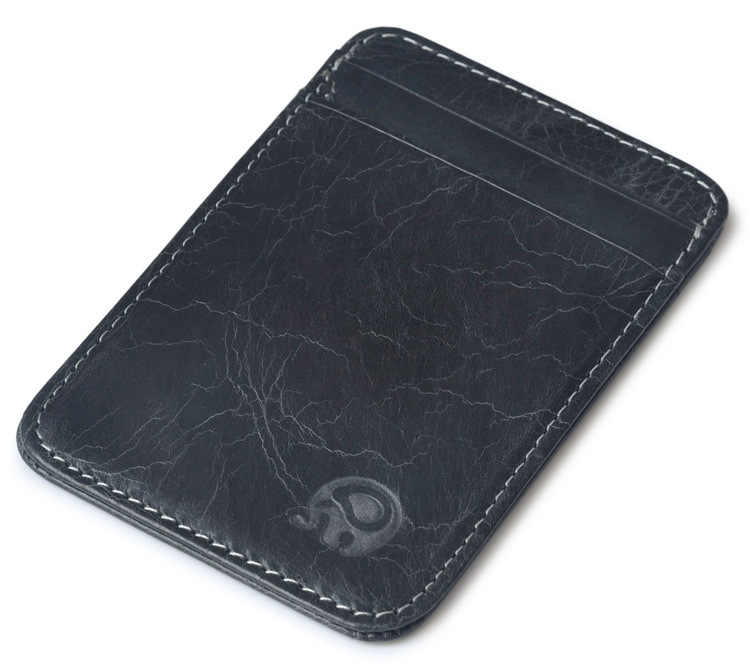 Mode 100% Echtem Leder Dünne Bank Kreditkarte Fall Mini Karte Brieftasche Männer Bus Karte Halter Bargeld Ändern Pack Business ID Tasche