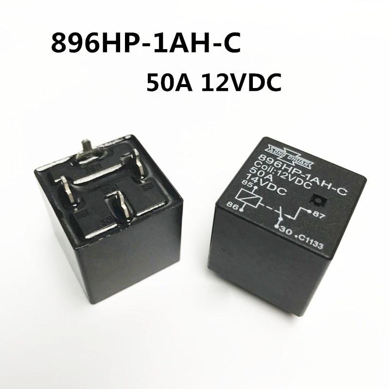 NEW 12V CAR relay 896HP-1AH-C 12VDC 896HP-1AH-C-12VDC 12VDC DC12V 12V 50A 4PIN цена