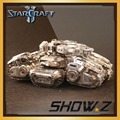 [Show.Z Store]Star craft Terran Human Crucio Siege Tank 3D Metal Puzzle Gray Silver DIY Mode