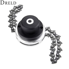 DRELD 1pc Power Grass Trimmer Head with Steel Chain Saw Links Brush Cutter For Lawn Mower Garden Reapir Tools