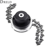 DRELD 1pc Power Grass Trimmer Head with Steel Chain Saw Links Brush Cutter Grass Trimmer For Lawn Mower Garden Reapir Tools