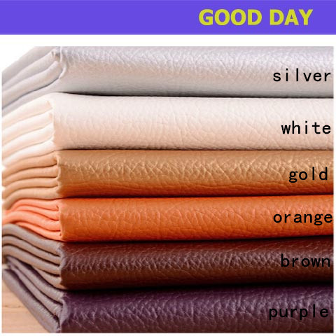 Lychee Pu Faux Leather Fabric Diy Handmade Decoration Material Cloth Sofa Car Seat Sewing