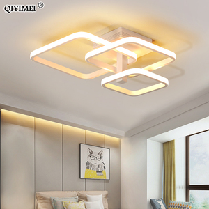 Image 2 - New LED Ceiling Light For Living Room Dining Bedroom Dimmable With Remote  White Coffee Frame Lighting Fixture Lamparas De Techo