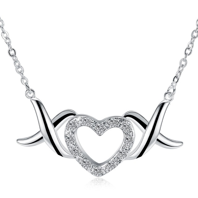 Angel wings sweet heart pendant lady sterling silver necklace give angel wings sweet heart pendant lady sterling silver necklace give girlfriends birthday gift 925 sterling silver aloadofball Images