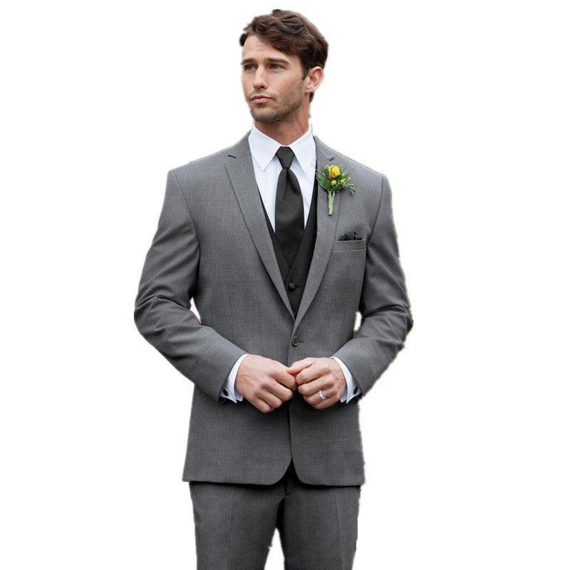 2015 one of the most popular gray suit with a black tie for ...