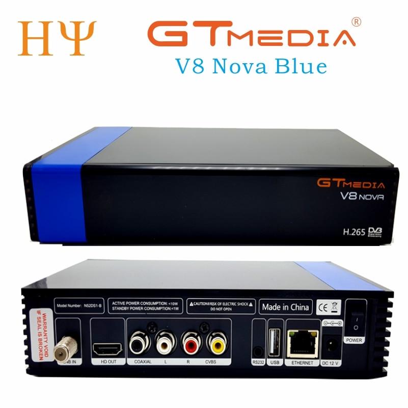 5PCS Lot Gtmedia V8 NOVA Blue DVB S2 HD 265 Satellite receiver support cccam newcamd power