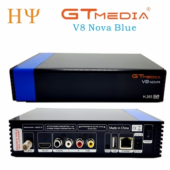 5PCS/Lot Gtmedia V8 NOVA Blue DVB-S2  HD.265 Satellite receiver support cam newcamd power vu  biss Set Top box Built-in WIFI