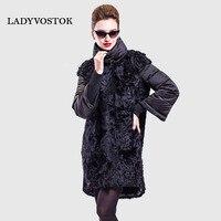 LADYVOSTOK Winter Warm Jacket Outerwear Clothes Fashion Women Transformer Long Buttons Women Coat Women Down Real